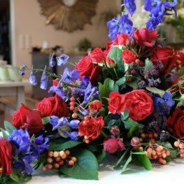 Trauerbouquet mit Rosen